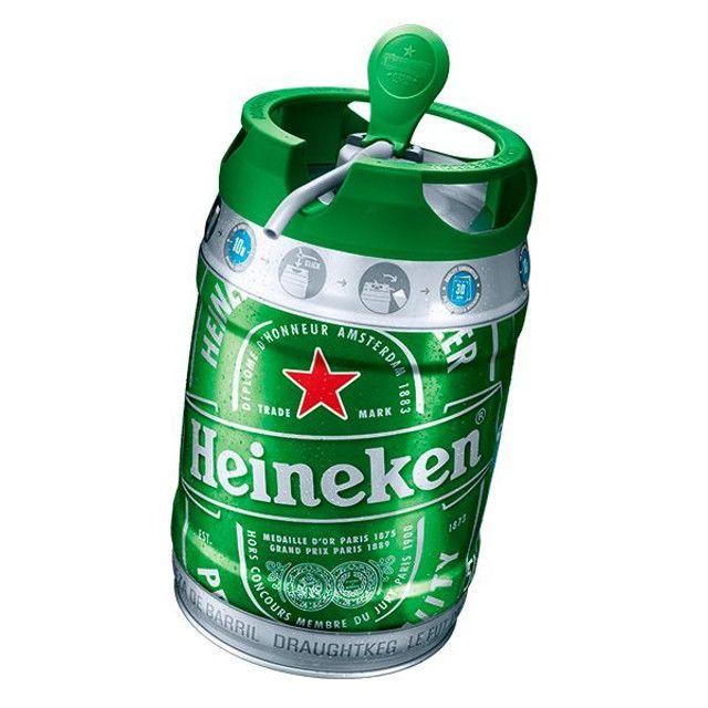 Barril de Chopp 5 litros Heineken