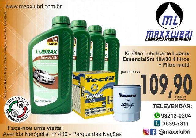 Óleo Lubrax 10w30 + Filtro de Óleo