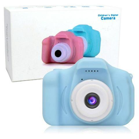 Câmera Digital Para Crianças LP005 Infantil Display 2 Pol HD Recarregável Prova de Choque