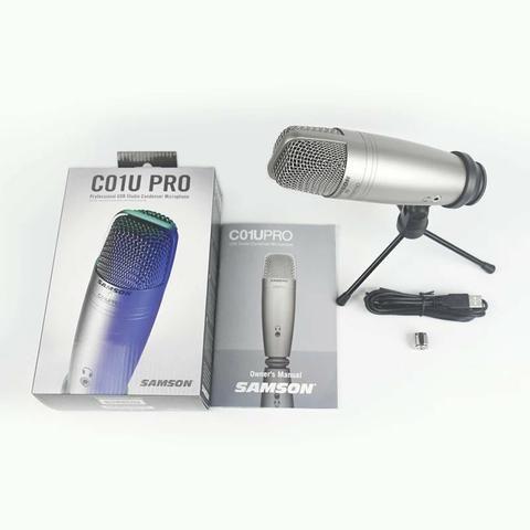 Microfone Samson C01U Pro Estúdio USB condensador estúdio profissional - Foto 2
