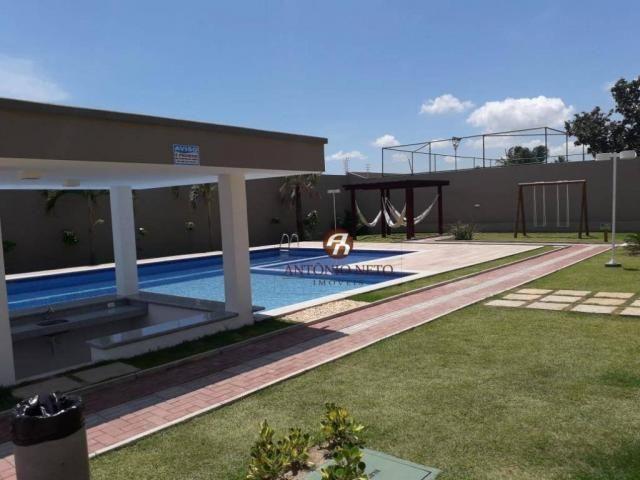 Apartamento NOVO com 3 dormitórios para alugar, 65 m² por R$ 1.150/mês - Messejana - Forta - Foto 9