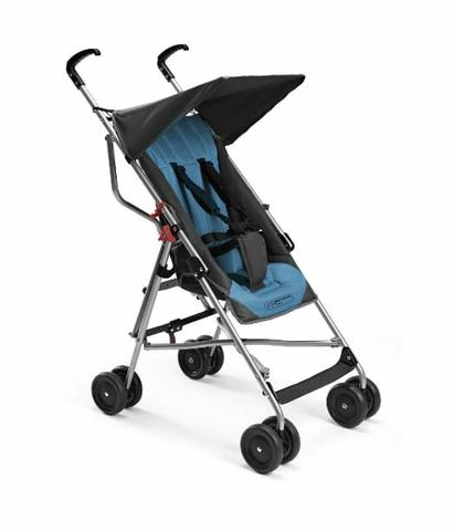 Carrinho de bebê, guarda chuva pocket azul e preto - Foto 3