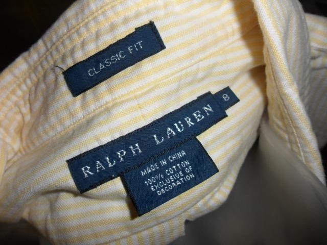290631c1520cc Camisa amarela feminina Ralph lauren original tam M - Roupas e ...
