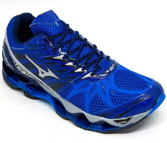 61e50854bd Tênis Mizuno Wave Prophecy 7 Azul Royal e Cinza - Roupas e calçados ...
