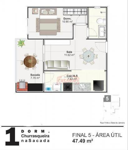 Apartamento com 01 dormitório na Vila Mirim, Praia Grande - Foto 7