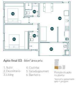 Apartamento para Venda em Balneário Camboriú, vila real, 2 dormitórios, 1 suíte, 2 banheir - Foto 8