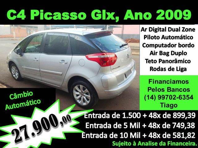 C4 Picasso Glx, Ano e Modelo 2009, Entrada de 1.500 + 48x de 799,57.Santander - Foto 12