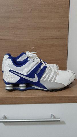 Nike Shock azul e branco  - Foto 4