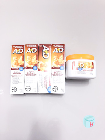 Pomada A+D de prevenção de assaduras - original dos EUA