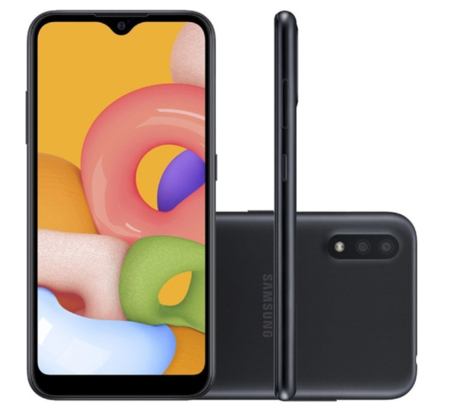 Smartphone Samsung Galaxy A01 32GB 4G Wi-Fi Tela 5.7'' Dual Chip