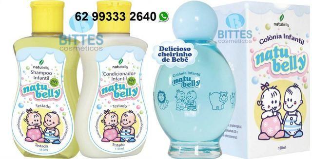 Colônia Infantil mais Shampoo e Condicionador Natubelly