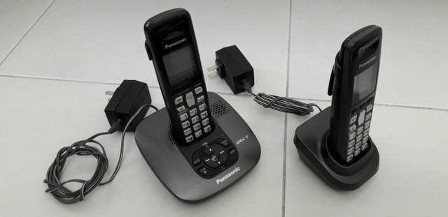 453d5ef4b Telefone sem fio Panasonic KX-TG6421LA com 2 fones e secretária eletrônica