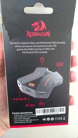 Adaptador teclado e mouse xbox one e ps4