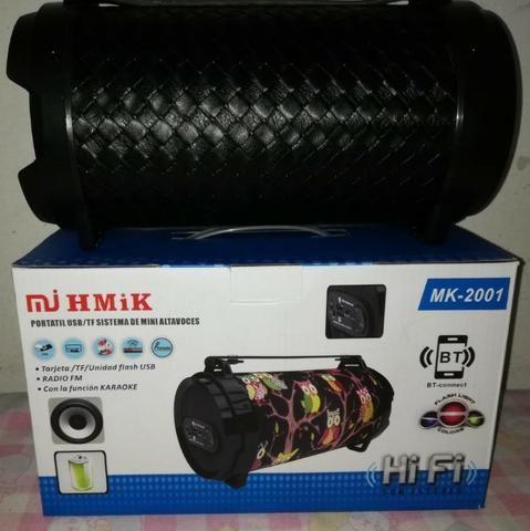 Caixa De Som Portatil Bluetooth Mp3 Fm Pc Micro - Mk2001