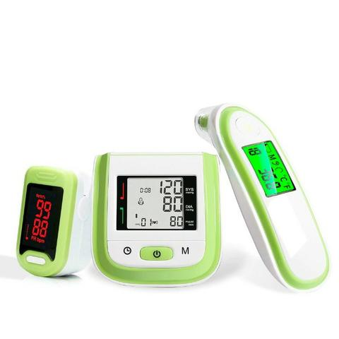 Kit 3 Em 1 Oxímetro + Termômetro + Medidor De Pressão - Foto 4