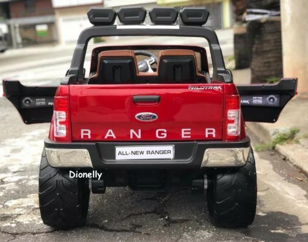 Carro Elétrico Infantil Ford Ranger Wild Track 12 volts. 4x4 Gigante Licenciado - Foto 4