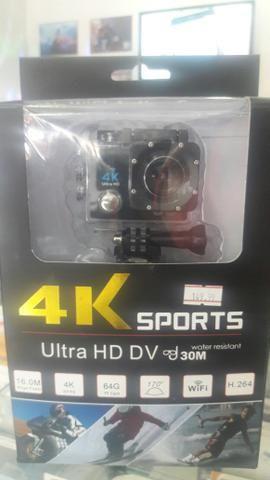 Câmera 4k Sport estilo Go Pro com suporte