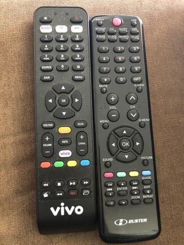 Controle remoto Receptor Vivo e TV Buster - Original e novos.