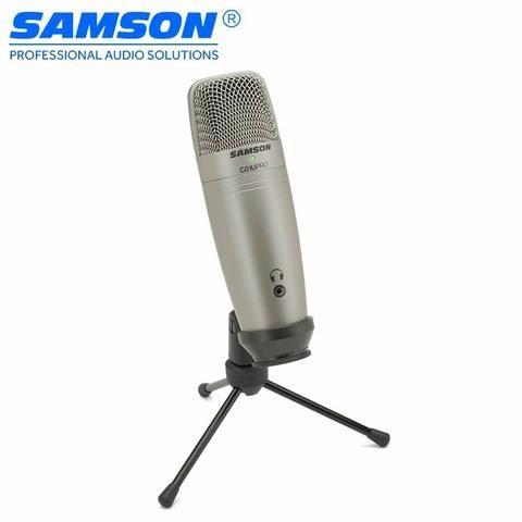 Microfone Samson C01U Pro Estúdio USB condensador estúdio profissional