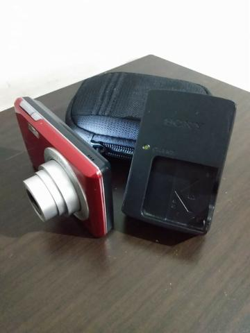 Câmera Digital Sony, Cyber-Shot, 14,1 M.P. Vermelha - Foto 3