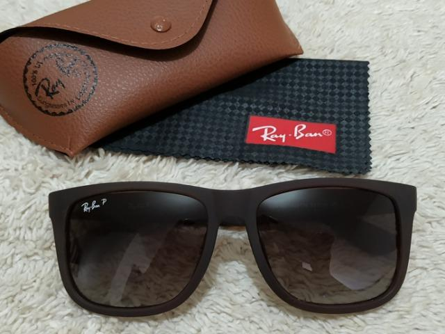 Óculos Top Top RayBan Justin Marrom Polarizado - Bijouterias ... 2f0f9283f1