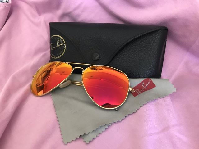 d2086f386f447 Óculos Ray-Ban original espelhado rosa - Bijouterias, relógios e ...