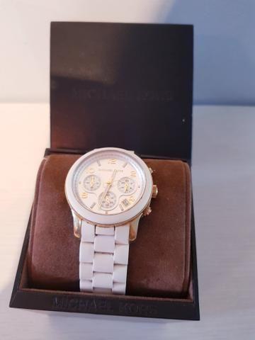 Relógio Michael Kors branco MK5145 - Bijouterias, relógios e ... a0594156a4