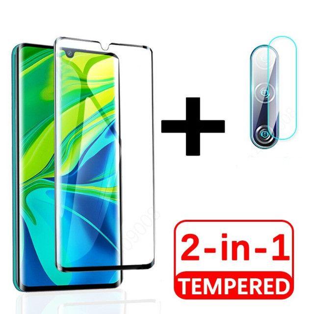 Kit Película 9D Vidro Temperado para Xiaomi Mi 9 Lite / Mi A3 Lite