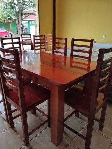 Mesa macacauba 6 cadeiras - Foto 2