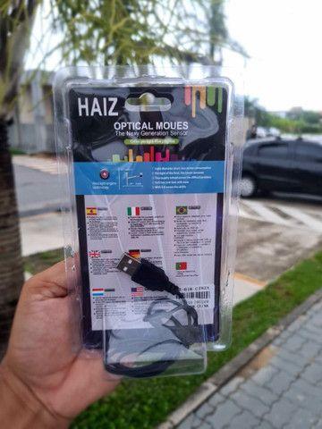 ?Mouse Óptico Haiz Com Fio Usb 2.0 Haiz 1000dpi Hz-018??<br> - Foto 5