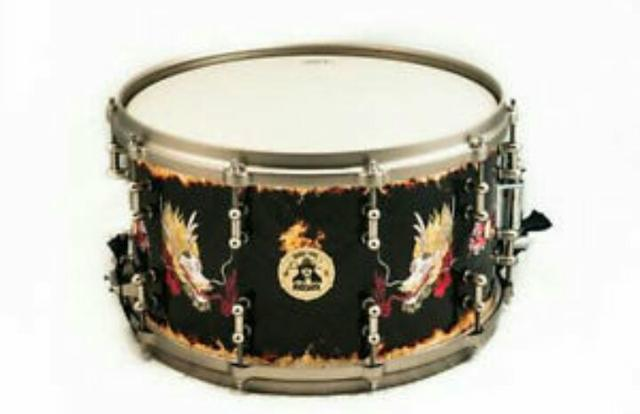 Ddrum Signature 8x14 Vinnie Paul SIGNED Dragon Snare Drum