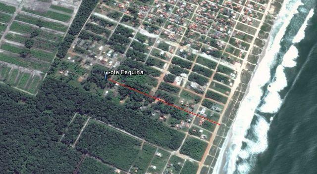 Terreno (loteam jardim curitiba) 600 m do mar - Praia do Ervino - parcelado
