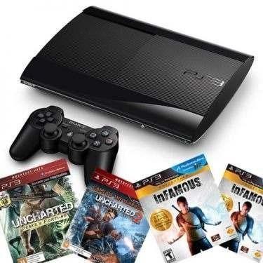Playstation 3 Slim com garantia de 01 ano. Aceitamos video games como parte do pagamento - Foto 2