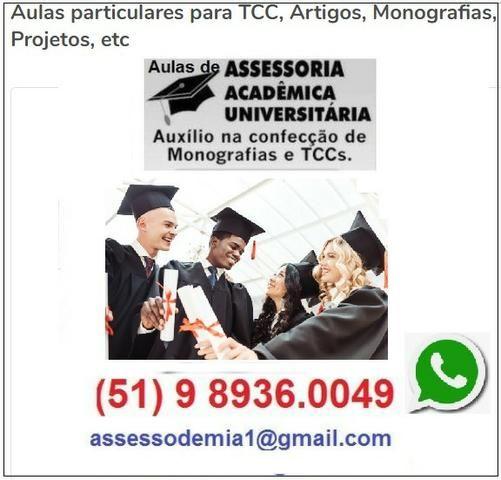 Aulas particulares para TCC, Artigos, Monografias, Projetos, etc