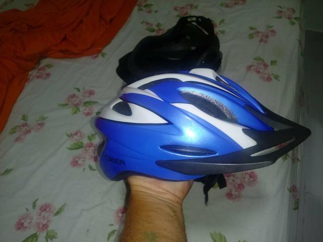 Vendo 2 capacete pra ciclista