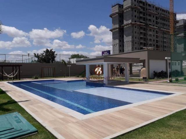 Apartamento NOVO com 3 dormitórios para alugar, 65 m² por R$ 1.150/mês - Messejana - Forta - Foto 2