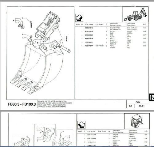 Catálogo peças, manual, Ad7b, Uniport, FG85, FR12, FB80, 70ci, FH200, 4CT - Foto 9