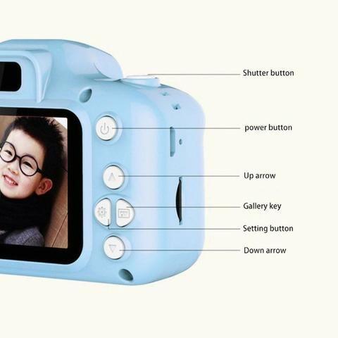 Câmera Digital Para Crianças LP005 Infantil Display 2 Pol HD Recarregável Prova de Choque - Foto 5