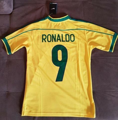 Camisa Nike Brasil Home 98 Ronaldo 9 - M Pronta Entrega - Roupas e ... 88b87ea7824c2
