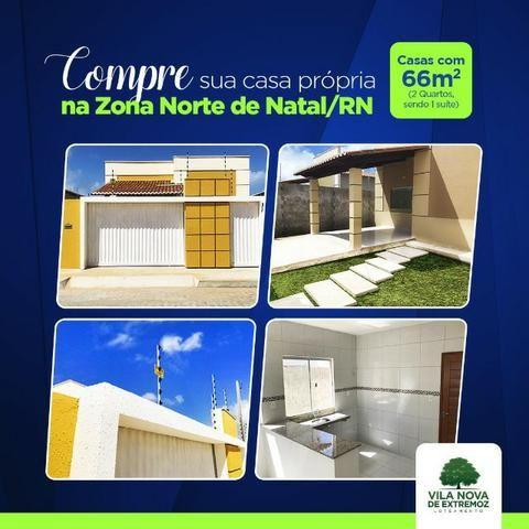 Casas na Zona Norte, próximas est de Genipabú, apenas 6Km da Ponte Newton Navarro, 105 mil