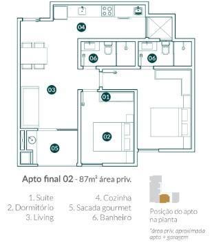 Apartamento para Venda em Balneário Camboriú, vila real, 2 dormitórios, 1 suíte, 2 banheir - Foto 7