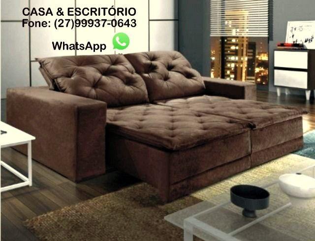 Sofá Reclinável e Retrátil com 2,90 Metros - Modelo Martins