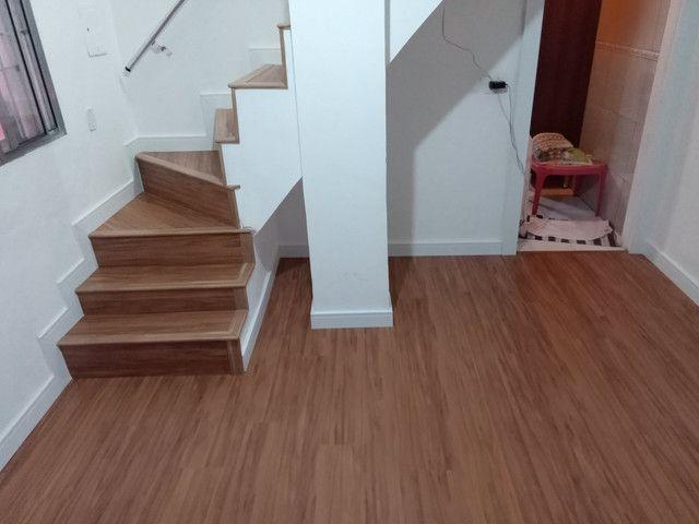 Faço colocação de piso laminado, vinílico, rodapés R$15,00 - Foto 5