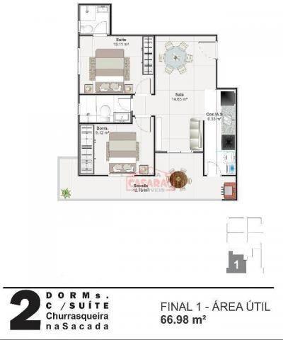 Apartamento com 01 dormitório na Vila Mirim, Praia Grande - Foto 2