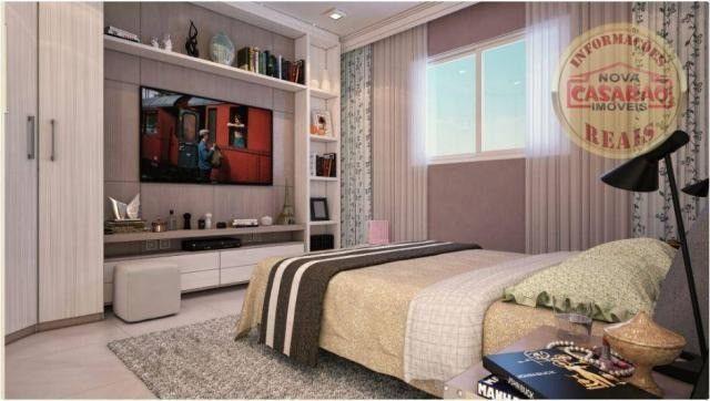 Apartamento com 2 dormitórios à venda, 77 m² por R$ 419.958 - Maracanã - Praia Grande - Foto 3