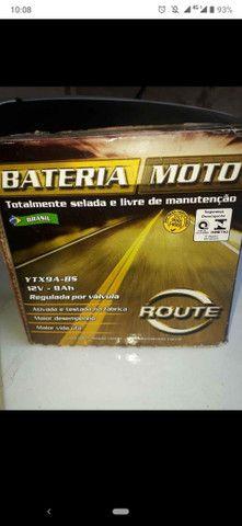 Bateria de moto nova com garantia da loja