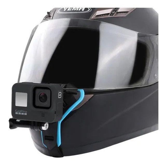 Suporte queixo capacete câmera (Motovlog) - Foto 2