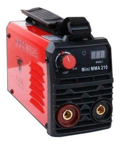 Máquina Inversora De Solda Digital Bivolt Mma-210 Usk - Foto 2