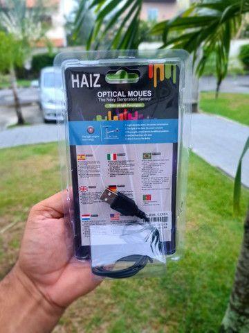 ?Mouse Óptico Haiz Com Fio Usb 2.0 Haiz 1000dpi Hz-018??<br> - Foto 3