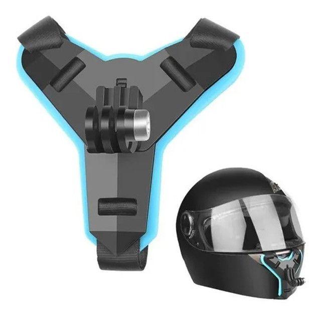 Suporte queixo capacete câmera (Motovlog)